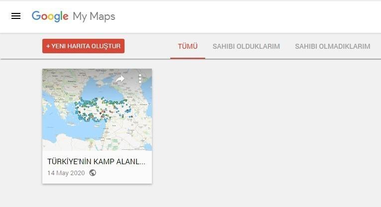 yeni harita oluştur